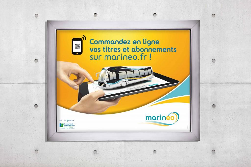 affiche transport Marinéo vente en ligne