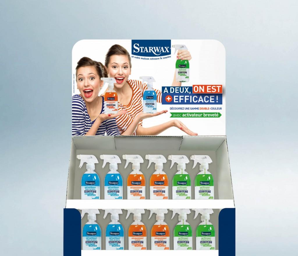 Box produits hygiène bi-color